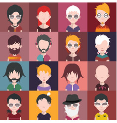 Set of avatars c vector