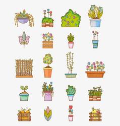 Set of garden elements vector