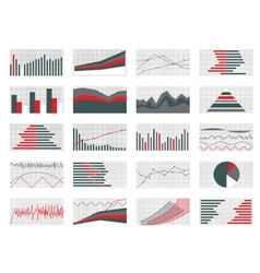 Set of Graphs and Charts Data and Statistic vector image