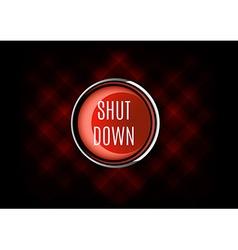 Shut Down Button vector
