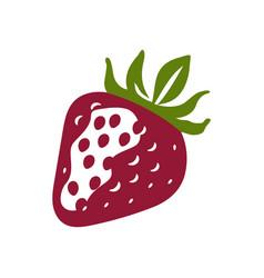 Simple strawberry icon vector