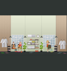 Spa salon services concept flat vector