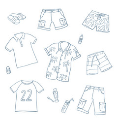 Summer clothing set vector