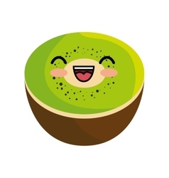 tasty kawaii kiwi organic fruit vector image