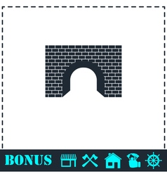 Tunnel icon flat vector