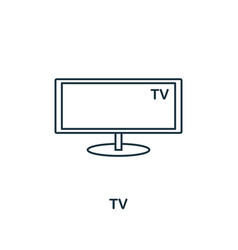 tv icon thin style design from household icons vector image