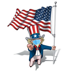 Uncle sam i want you - american flag - surgical vector