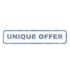unique offer textile stamp vector image