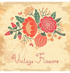 Vintage flowers Cute flower for design vector image