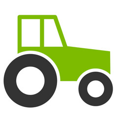 Wheeled tractor flat icon vector