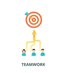 Achievement of results concept team is committed vector