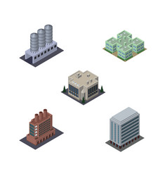 isometric construction set of company industry vector image