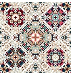 Luxury oriental tile seamless pattern Colorful vector image