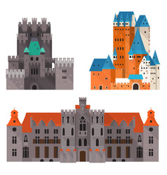 medieval castle or citadel fort medieval palace vector image