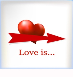Banner for text with a heart vector