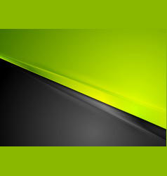 green and black contrast striped abstraction vector image