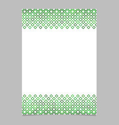 green diagonal square pattern brochure background vector image vector image
