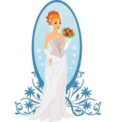 happy bride vector image