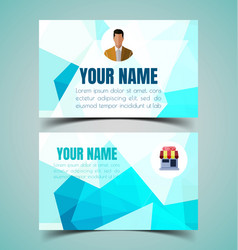 name card template8 vector image vector image