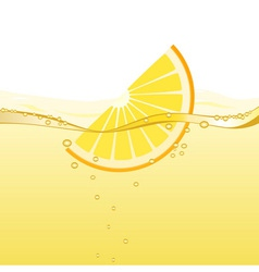 Orange drink vector image vector image