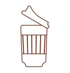 Paper cup coffee out line vector