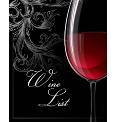 Template for wine list vector image vector image
