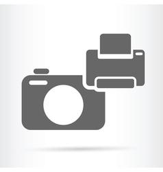 camera and printer icon vector image vector image