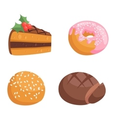 Cookie cakes isolated vector image vector image