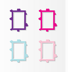 cute photo frame baby set of border design pastel vector image