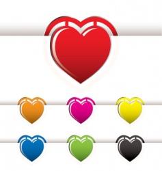 heart book mark vector image vector image