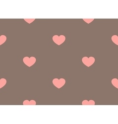 retro seamless pattern with colorful hearts vector image vector image