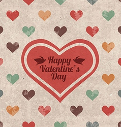 Retro Valentines day greeting card vector image