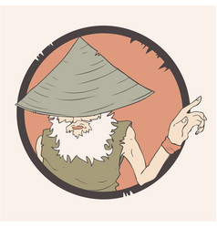 wise man vector image
