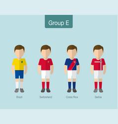 2018 soccer or football team uniform group e vector image