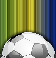Background with soccer ball Brazil 2014 football vector image vector image