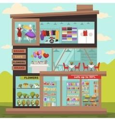 shopping center or mall vector image