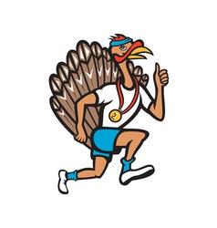 Turkey Run Runner Thumb Up Cartoon vector image