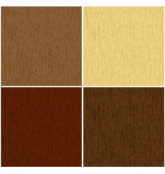 wooden texture in 4 colors vector image vector image