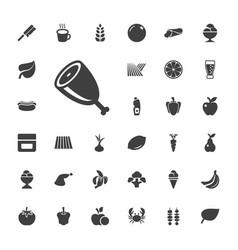 33 fresh icons vector