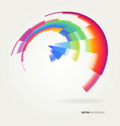 Abstract creative colorful lines and shapes vector