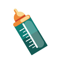 Baby bottle icon accessory necessary vector