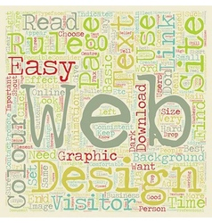 Basic Rules of Web Design text background vector image