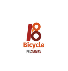 bicycle pro service letter b icon vector image