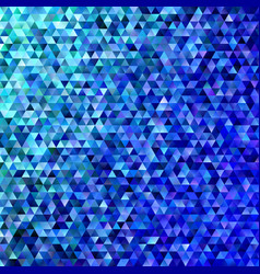 blue abstract regular triangle tile mosaic vector image