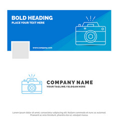 Blue business logo template for camera vector