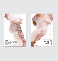 Blush marble art with watercolor liquids in beige vector