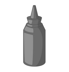 bottle of ketchup icon monochrome vector image vector image