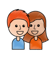 boy and girl happy young people community vector image