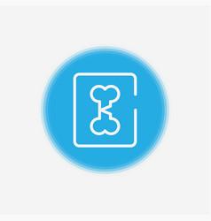 broken bone icon sign symbol vector image
