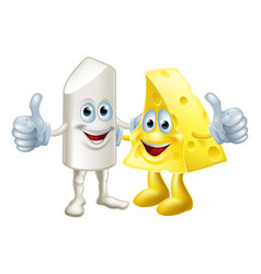 chalk and cheese friends vector image